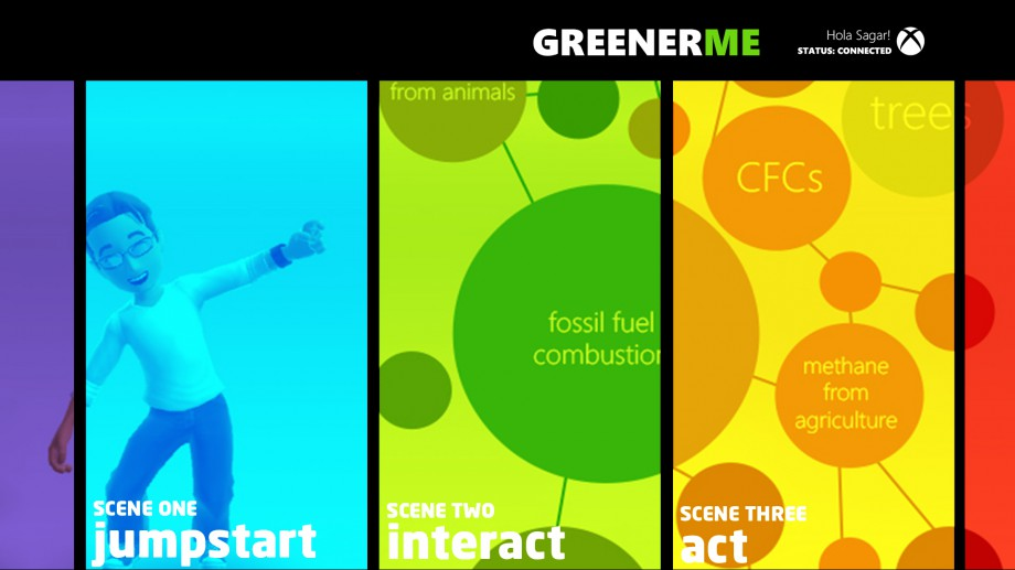 Greener Me Main Screen Wireframe