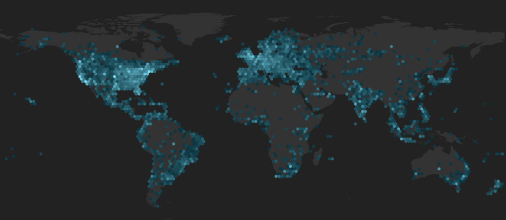 Follower map of some VIT (Very Important Tweep!).